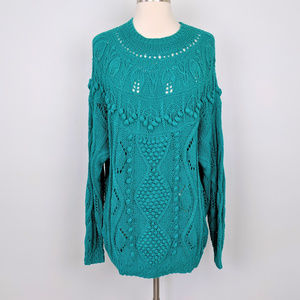 Vintage 90s Oversized Teal Pullover Sweater NWT